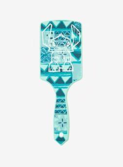 Disney Lilo & Stitch Blue Tiki Hairbrush Large Paddle Hair B