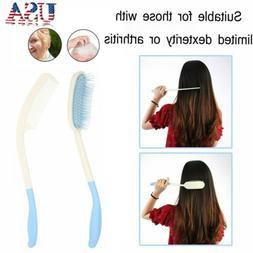Long Curved Handle Hairbrush Long Hair Comb brush For Elderl