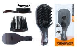Black Ice Magic Wave 7'' Curved Club Brush Hard Premium Boar
