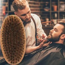 Men Boar Hair Bristle Beard Mustache Brush Military Hard Rou