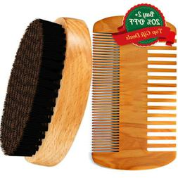 Men Boar Hair Bristle Beard Mustache Brush Military Hard Rou