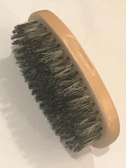 Men Boar Hair Bristle Beard Mustache Brush Palm Round Wood H