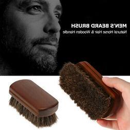 Men Boar Hair Bristle Beard Mustache Brush Soft Hard Palm Ro