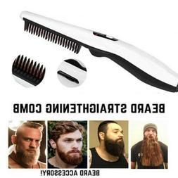 Men Electric Beard Straightener Beard Comb Quick Heated Hair
