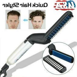 Men Hair Straightener Hair Styling Comb Beard Comb Curling E