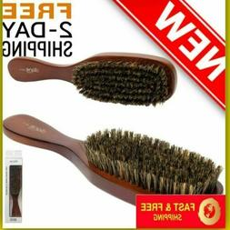 Men Natural Boar Bristle Wave Hair Brush Wooden Handle Soft