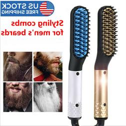Men's Multifunctional Quick Beard Straightener Hair Comb  Cu