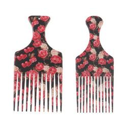 Men's Women Oily Hair Comb Hairdressing Slick Back Hairstyle