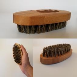 Military Beard and Mustache Brush 100% Boar Hair &Bamboo Woo