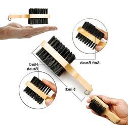 Mini Double Brush Boar Soft & Hard Bristles Moustache Beard
