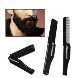 Mini Folding Beard Comb Beard Brush Elegant Pocket Hair NEWS