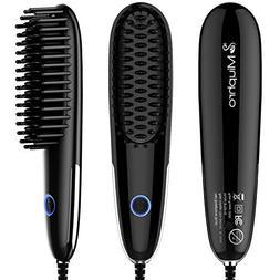 Miuphro Mini Hair Straightener Brush, Suitable for Various H