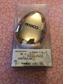 Conair Mini Tangle Blaster Hair Brush For On The Go Gold NWT