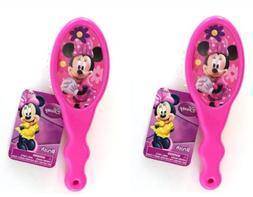 Disney Minnie Mouse Hair Brush x 2