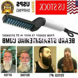Multifunctional Quick Beard Straightener Hair Brush Comb Cur