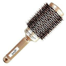 Wigbuy Nano Ceramic Ionic Vented Round Hair Brush with Natur