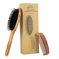 Natural Boar Bristle Hair Brush Set HAIRBY Mixed Nylon HAIRB