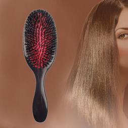 natural boar bristle hair brush oval anti