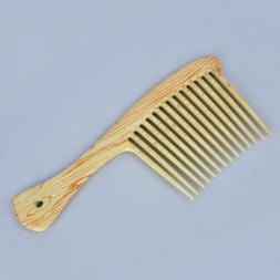 Natural Massage Beauty Wooden Wide Tooth Comb Hair Care Salo