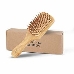 Natural Wooden Hair Brush – pureGLO Bamboo Bristle Detangl