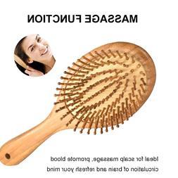 Natural Wooden Paddle <font><b>Hair</b></font> <font><b>Brus