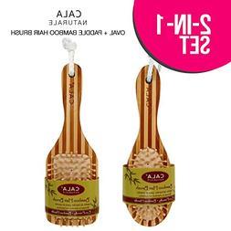 CALA Naturale Oval, Rectangler Bamboo Hair Brush, Eco-Freie