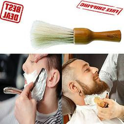 Neck Duster Beard Brush Barbers Salon Cutting Stylist Wood H