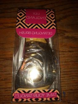 New Lily England Detangler Brush Gold Hairbrush for Detangli