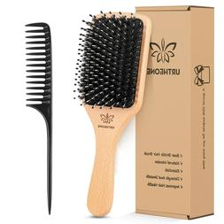 NEW Hair Brush Boar Bristle Hairbrush for Thick Curly Thin L