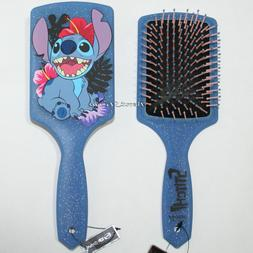 NEW Disney Lilo & Stitch Hawaii Glitter Flowers Blue LARGE P