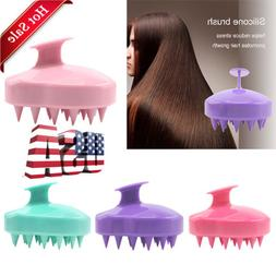 New Silicone Shampoo Brush Scalp Shower Body Washing Hair Ma