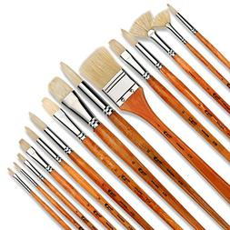 Artify 15 pcs Oil Professional Paint Brushes Artist Grade Pa