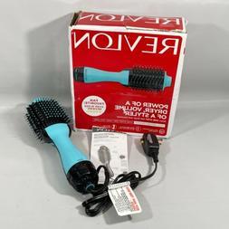 REVLON One-Step Hair Dryer And Volumizer Hot Air Brush Mint