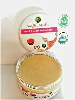ORGANIC 100% Argan Oil Hair mask & Rose - for all hair type