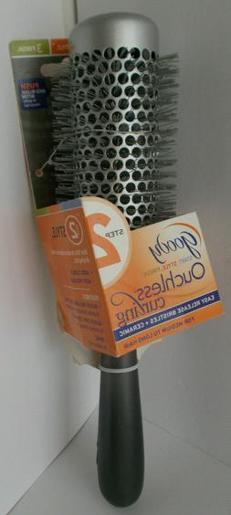 Goody Ouchless 2 Step Hair Brush Quick EZ Release Button Rou
