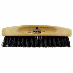 Kent Oval Beech Wood Pure Black Bristle Hair Brush - MG2