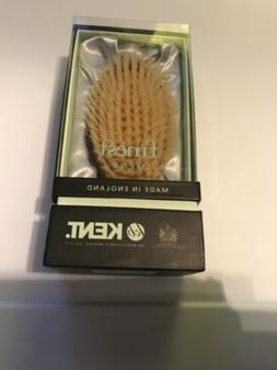 Kent Oval wood Travel Size White Bristle Brush Hair Brush MC