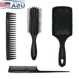 4PCS Paddle Hair Brush Detangling Comb Cushion Massage Scalp