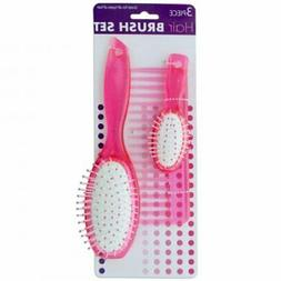 Paddle Hair Brushes & Wide Tooth Comb Set