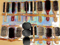 Pick 1 Annie Beard Brush Wooden Hard Soft Boar Bristle Wave