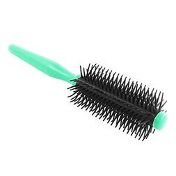 uxcell Plastic Hair Salon Round Curling Bristle Handle Wavy