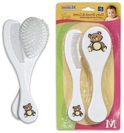 """6.5"""" 2pc Plastic Hairbrush & Comb Set 48 pcs sku# 1780620MA"""