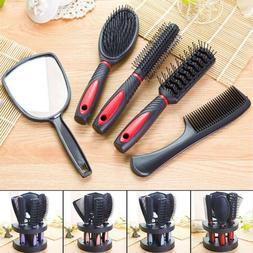 Plastic Salon Hair Comb And Mirror Set Hair Brush Massage Co