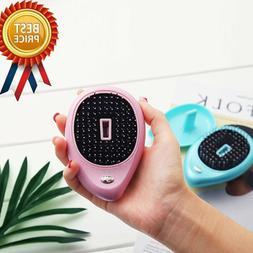 Portable Electric Ionic Hairbrush Anti-static Mini Hair Brus