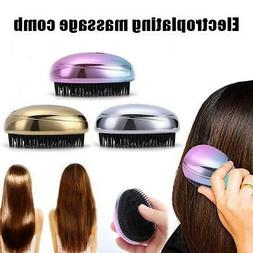 Portable Electric Ionic Hairbrush Mini Ion Vibration Hair Br