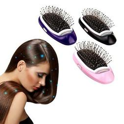 Portable Electric Ionic Hairbrush Negative Ions Hair Comb Br