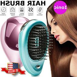 Portable Electric Ionic Hairbrush Takeout Mini Hair Brush Co