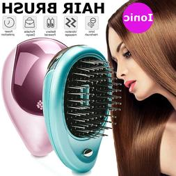 1pc Portable Electric Ionic Hairbrush Takeout Mini Ion Hair
