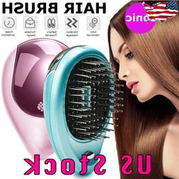 Portable Electric Ionic Hairbrush Takeout Mini Small Hair Br