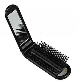 LOUISE MAELYS Portable Folding Hair Brush with Mirror Compac